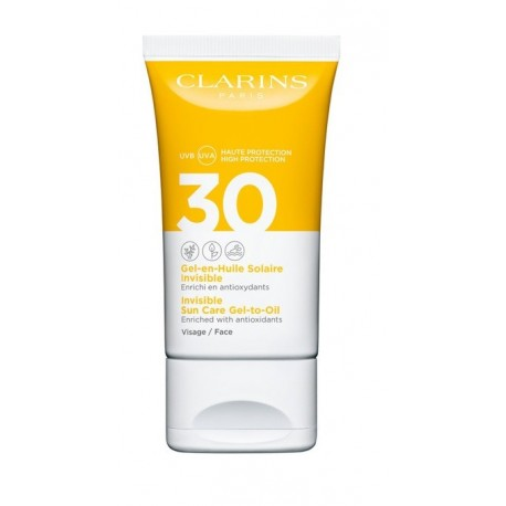 CLARINS GEL ACEITE SOLAR INVISIBLE ROSTRO SPF 30 50 ML @