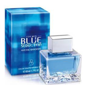 ANTONIO BANDERAS BLUE SEDUCTION FOR MEN EDT 100 ML TESTER (cae vapo, pero vaporiza bien)