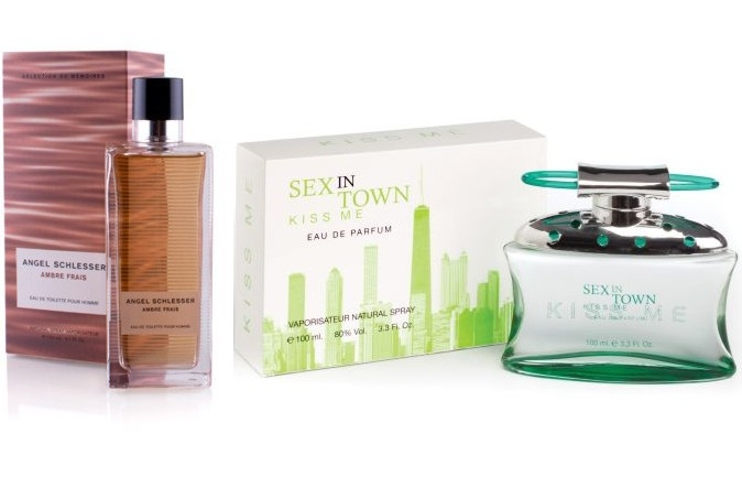 PACK ANGEL SCHLESSER AMBRE FRAIS FEMME EDT 100ML @ + SEX IN THE TOWN KISS ME EDP 100 ML