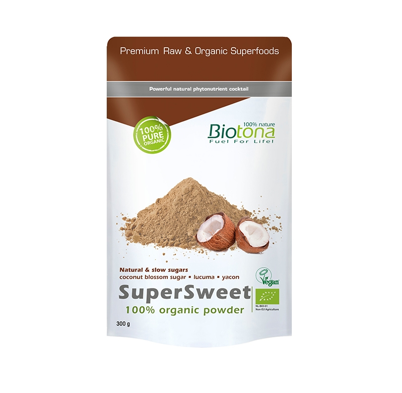 BIOTONA SUPERSWEET POWDER (AZUCAR DE COCO) 300 GRAMOS REGULAR