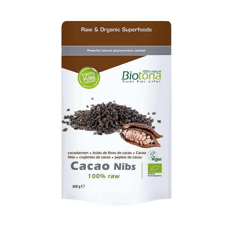 BIOTONA CACAO RAW NIBS (TROZOS) 300 GRAMOS