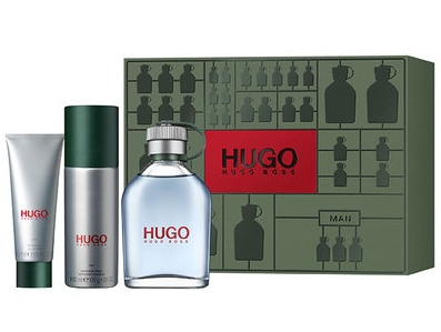 SET HUGO MAN  EDT 125 ML + DESODORANTE SPRAY 150 ML + GEL DE DUCHA 50 ML