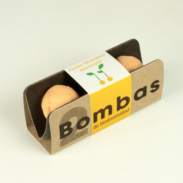 PACK 2 BOMBAS DE BIODIVERSIDAD FLORES NARANJAS