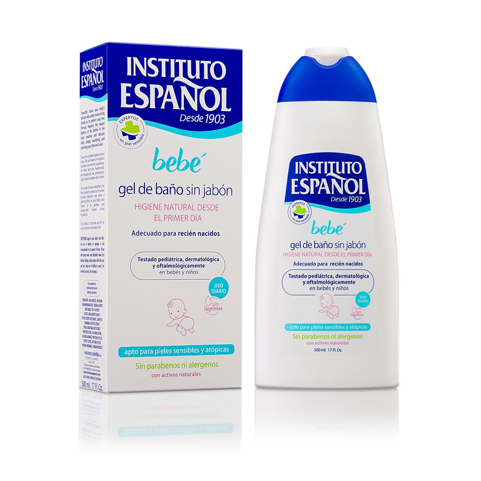 INSTITUTO ESPAÑOL BEBE GEL DE BAÑO SIN JABON PIELES SENSIBLES Y ATOPICAS 500 ML REGULAR