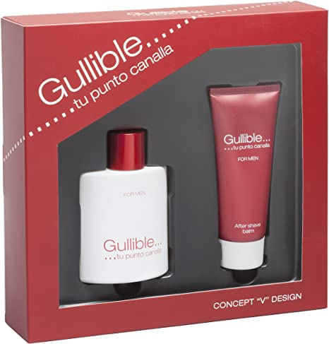 SET CONCEPT V DESIGN GULLIBLE FOR MEN EDT 100 ML  + AFTER SHAVE BALSAMO 100 ML