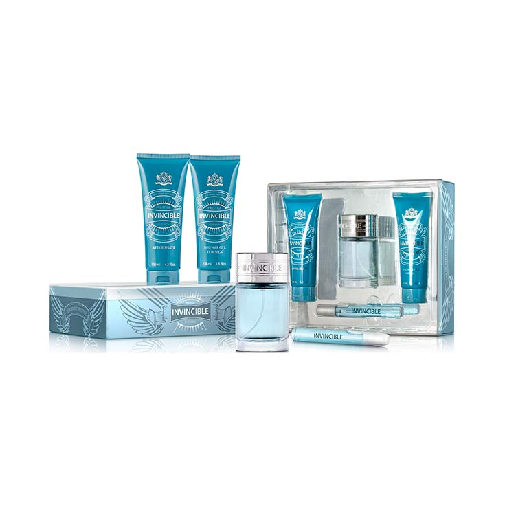 SET NEW BRAND INVENCIBLE FOR MEN 4 PIEZAS