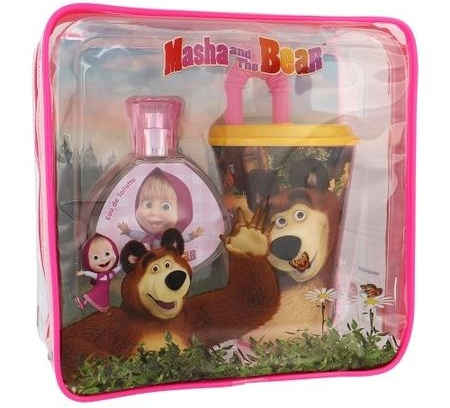 SET MASHA AND THE BEAR EDT 50 ML + VASO CON PAJITA + FIAMBRERA