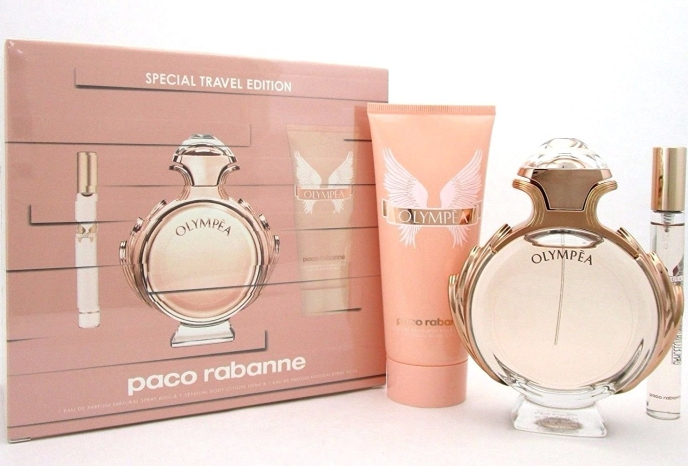 SET OLYMPEA EDP 80 ML + LECHE CORPORAL 100 ML + MINIATURA 10 ML REGULAR