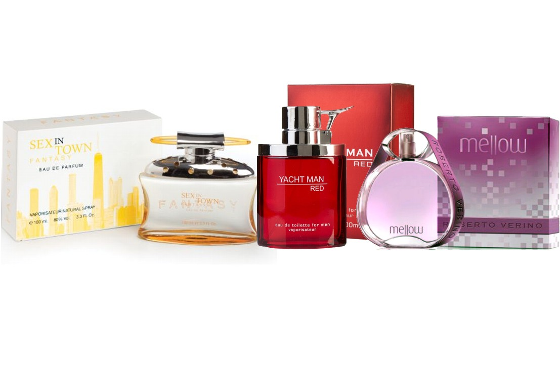 YACHTMAN RED MEN EDT 100 ML REGULAR + ROBERTO VERINO MELLOW EDT 90 ML TESTER + SEX IN TOWN FANTASY EDP 100 ML REGULAR
