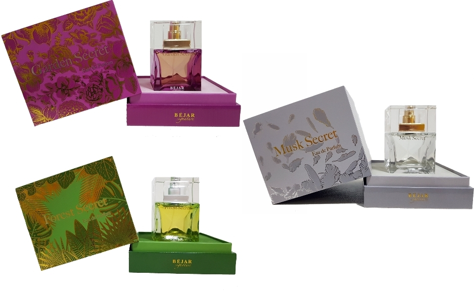 PACK 3 PRODUCTOS LUJO BEJAR SIGNATURE GARDEN SECRET EDP 75 ML UNISEX  + FOREST SECRET EDP 75 ML  + MUSK SECRET EDP 75 ML