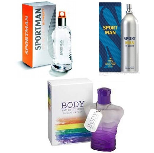 PACK CONCEPT V DESIGN BODY EDT 100 ML REGULAR + SPORT MAN EDT 150 ML @ + SPORT MAN STREET 150 ML @