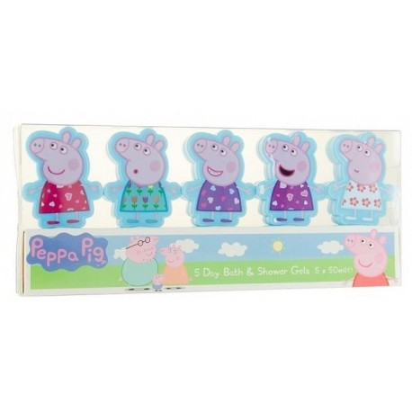 SET PEPPA PIG SHOWER GEL 5x50 ML