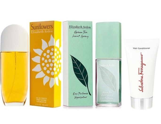 PACK SUNFLOWERS EDT 100ML TESTER + GREEN TEA EDP 100 ML TESTER + ACONDICIONADOR PELO SALVATORE FERRAGAMO 50 ML DE REGALO
