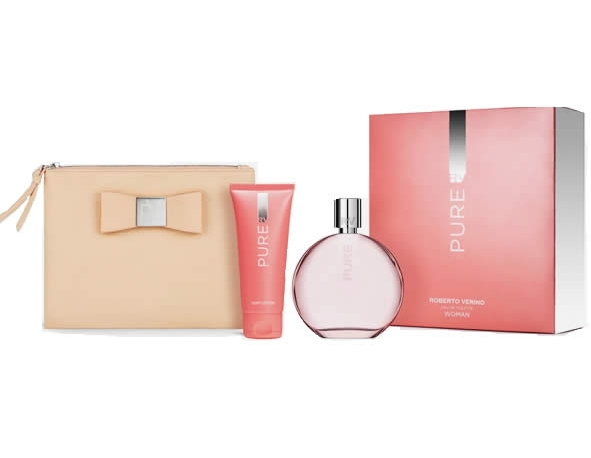 SET VERINO PURE WOMAN EDT 120 ML REGULAR + BODY LOCION 50 ML + BOLSO DE MANO REGULAR