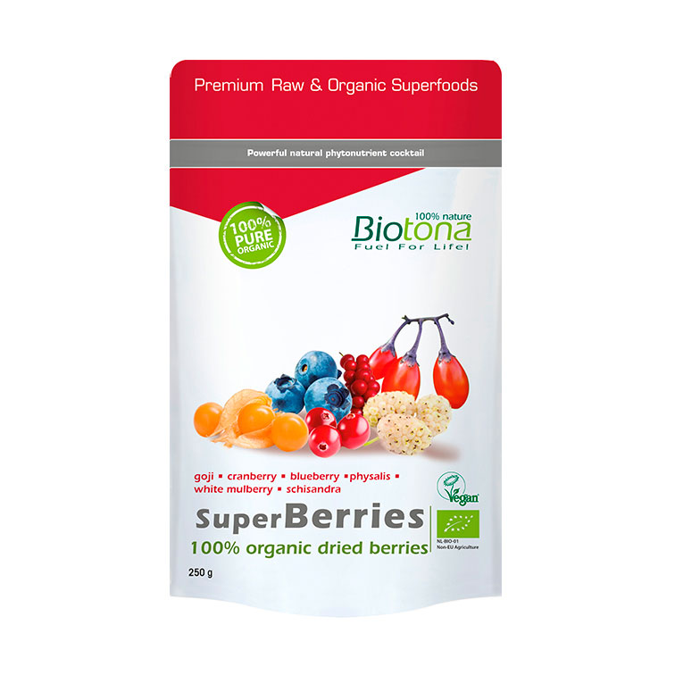 BIOTONA SUPERBERRIES (FRUTAS DEL BOSQUE) 250 GRAMOS