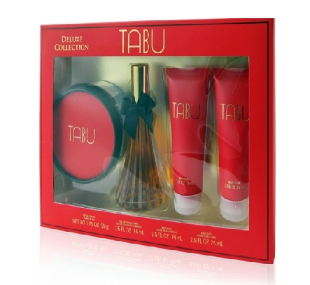 SET TABU DELUXE COLLECTION EDC 74 ML + BODY LOCION 74 ML + LOCION DUCHA 74 ML + TALCO ESPOLVOREAR