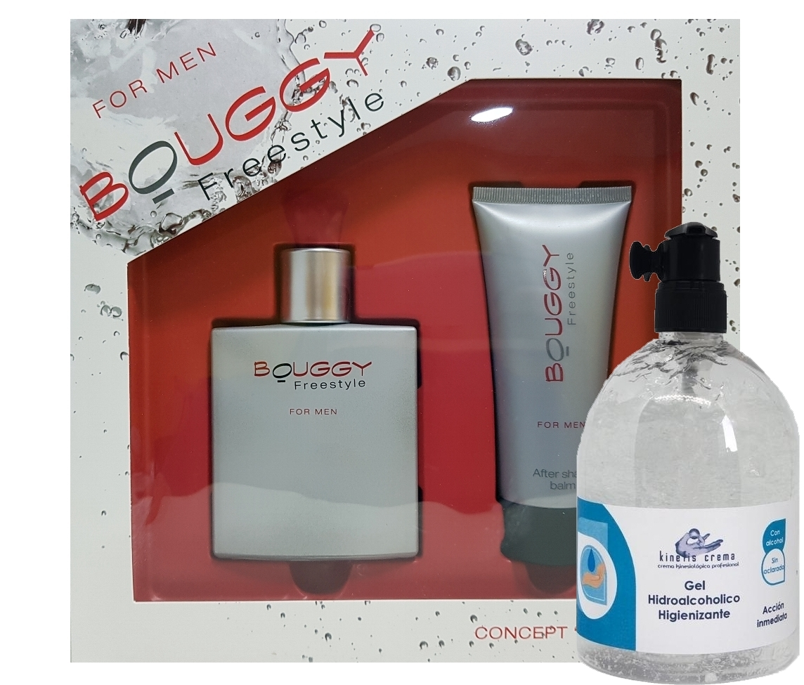 SET CONCEPT V DESIGN BOUGGY FREESTYLE FOR MEN EDT 100 ML  + AFTER SHAVE BALSAMO 100 ML + GEL HIDROALCOHOLICO KINEFIS 500 ML