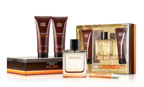 SET NEW BRAND VOLCANO FOR MEN 4 PIEZAS