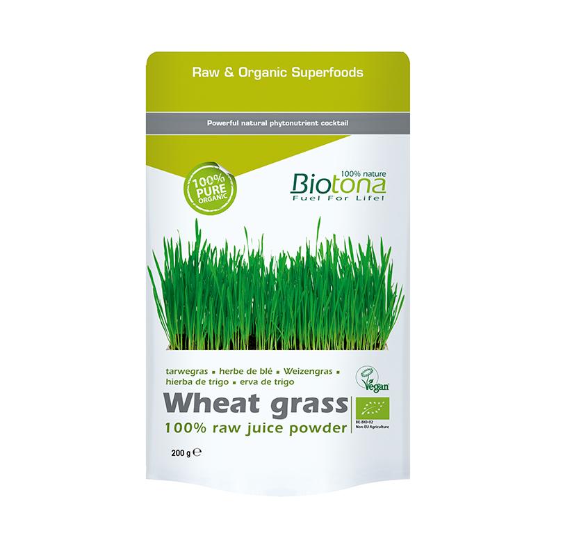 BIOTONA WHEAT GRASS RAW JUICE (POLVO) 200 GRAMOS REGULAR